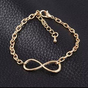 Infinity Cross Chain Bracelet Gold Color